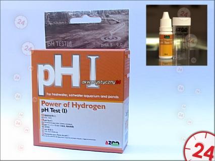 AZOO pH (I) TEST - Test na pH (4.5-9.0) do akwarium słodkowodnego i morskiego