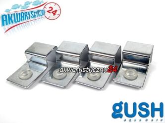 GUSH Cover Hook X 15mm - Komplet 4 zaczepów pod szybę przykrywającą akwarium