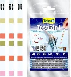TETRA (Termin: 01.2021) Test 6in1 10 Strips (T283725) - Test paskowy określający pH, KH, GH, NO2, NO3, Cl2.