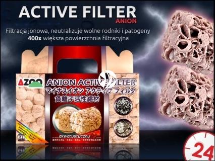 AZOO ACTIVE FILTER Anion (AZ16068) - Filtracja jonowa poprzez ładunki jonów, które usuwają lub neutralizują cząsteczki stałe w tym wolne ro