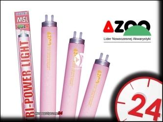 AZOO TRI-POWER LIGHT T8 - Czerwona, ciepła świetlówka do akwarium roślinnego.