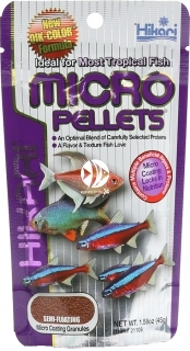 HIKARI Micro Pellets (21102) - Tonący pokarm dla małych ryb tropikalnych