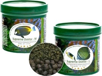 NATUREFOOD Supreme Doktor - Tonący pokarm dla pokolców, roślinożernych ryb morskich i słodkowodnych