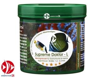 Naturefood Supreme Doktor L 120g | Miękki pokarm dla pokolców, roślinożernych ryb morskich i słodkowodnych