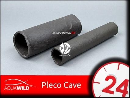 AQUAWILD PLECO CAVE (Gray) (CRG009) - Przelotowa rurka ceramiczna dla zbrojników i sumów