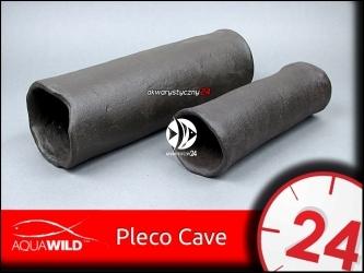 AQUAWILD PLECO CAVE 9 (Gray) - Przelotowa rurka ceramiczna dla zbrojników i sumów