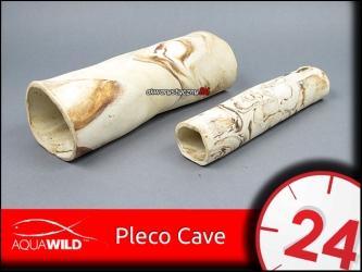 AQUAWILD PLECO CAVE 6 (Sand) - Przelotowa rurka ceramiczna dla zbrojników i sumów