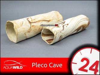 AQUAWILD PLECO CAVE 9 (Sand) - Przelotowa rurka ceramiczna dla zbrojników i sumów