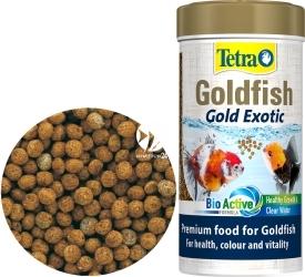 TETRA (Termin: 11.2020) Goldfish Gold Exotic 250ml (T753129) - Pokarm w granulkach dla złotych rybek i innych gatunków zimnolubnych.
