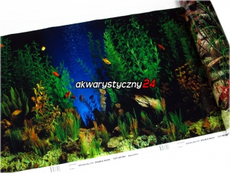 Foto tapeta do akwarium (wysokość 48cm) nr.1 - Tło dwustronne