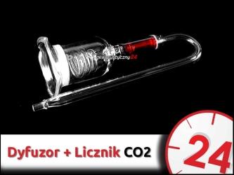 SZKLANY DYFUZOR CO2 (spiralny z zaworkiem zwrotnym) 40mm