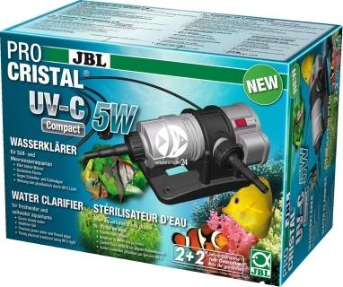 JBL ProCristal UV-C Compact 5W (60394) - Sterylizator do szybkiego usuwania zmętnienia wody