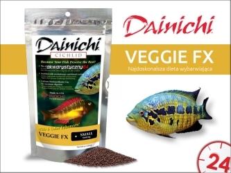 DAINICHI CICHLID Veggie FX Sinking (500g) baby | Pokarm dla pielęgnic roślinożernych silnie wzbogacony w 6 składników wybarwiających