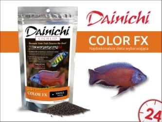 DAINICHI CICHLID Color FX Sinking (500g) small | Pokarm dla pielęgnic wzbogacony w 7 składników wybarwiających najwyższej jakości