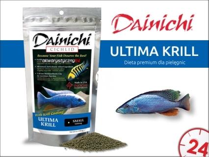 DAINICHI CICHLID Ultima Krill Sinking (12201) - Doskonale zbilansowany pokarm wspomagający szybki wzrost i prawidłowy rozwój pielęgnic