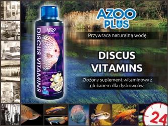 AZOO PLUS Discus Vitamins - Złożony suplement witaminowy z glukanem dla dyskowców.