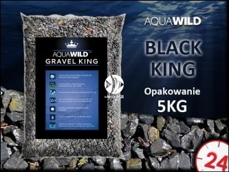 AQUAWILD BLACK KING - Naturalny żwir do akwarium w kolorze ciemnym