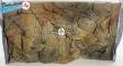 EKOL Tło STANDARD (ST50x30) - Tło uniwersalne do akwarium, zawiera motywy skał i korzeni 50x30 cm