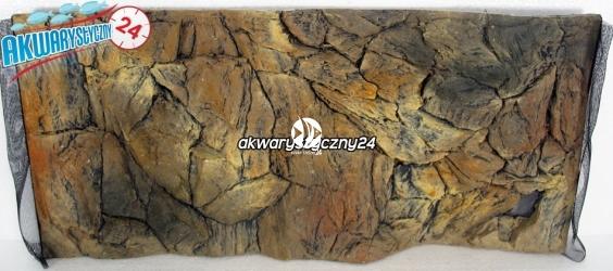 TŁO STRUKTURALNE 60x30 cm - Motyw mieszany, skała i korzeń.