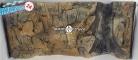 EKOL Tło STANDARD (ST50x30) - Tło uniwersalne do akwarium, zawiera motywy skał i korzeni 100x50 cm