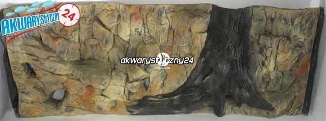 TŁO STRUKTURALNE 120x50 cm - Motyw mieszany, skała i korzeń.