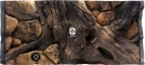 EKOL Tło Amazonka (AM50x30) - Tło do akwarium z motywami korzeni i skał, imitujące biotop Amazonii. 80x40 cm