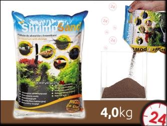 AQUA ART SHRIMP SAND 4 kg (brązowe) | Ekonomiczne podłoże dla krewetek