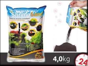 AQUA ART SHRIMP SAND 4 kg (czarne) | Ekonomiczne podłoże dla krewetek