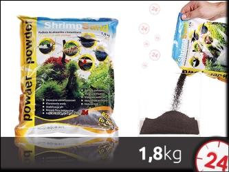AQUA ART SHRIMP SAND 1,8 kg Powder (czarne) | Ekonomiczne podłoże dla krewetek