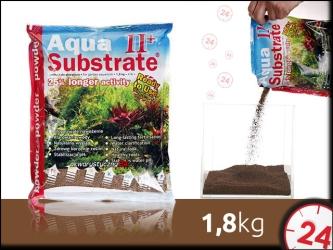 AQUA ART AQUA SUBSTRATE II+ 1,8 kg Powder (brązowe) - Ekonomiczne podłoże do akwarium roślinnego