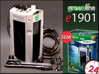 JBL CRISTALPROFI GREENLINE e1901 (60222) - Energooszczędny filtr zewnętrzny do akwarium 200-800l