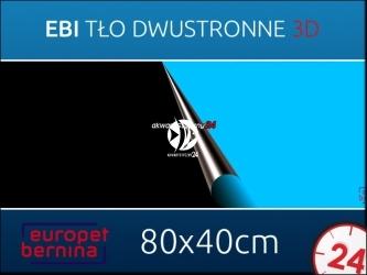 EBI Tło dwustronne CZARNE + NIEBIESKIE 80x40cm [241-108697] | Foto tapeta do przyklejenia na tylną szybę akwarium.