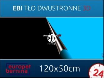 EBI Tło dwustronne CZARNE + NIEBIESKIE 120x50cm [241-108710] | Foto tapeta do przyklejenia na tylną szybę akwarium.