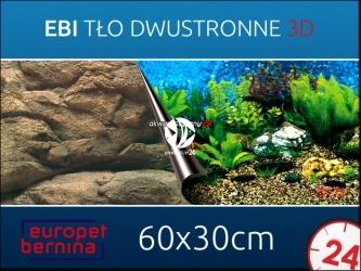 EBI Tło dwustronne SEA + ROCK 60x 30cm [241-108758] | Foto tapeta do przyklejenia na tylną szybę akwarium.