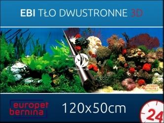 EBI Tło dwustronne STONE + CORAL 120x50cm [241-108871] | Foto tapeta do przyklejenia na tylną szybę akwarium.