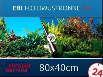 EBI Tło dwustronne BEAUTY + SEA 80x40cm [241-108932] | Foto tapeta do przyklejenia na tylną szybę akwarium.