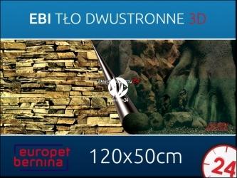 EBI Tło dwustronne TREE + ROCK 120x50cm [241-109038] | Foto tapeta do przyklejenia na tylną szybę akwarium.