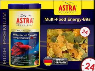 ASTRA HIGH PREMIUM Multi-Food Energy-Bits 1000ml | Pokarm płatkowany super premium z dodatkiem energetycznych granuletek.