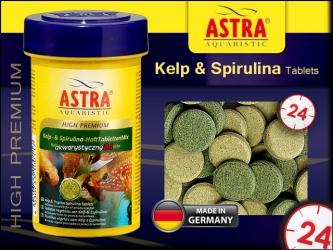 ASTRA-aquaristik HIGH PREMIUM Kelp & Spirulina Tablets 100ml - Przylepne tabletki super premium dla wszystkich ryb tropikalnych.