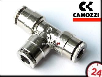 CAMOZZI Trójnik metalowy T na wąż 6mm (6540-6)