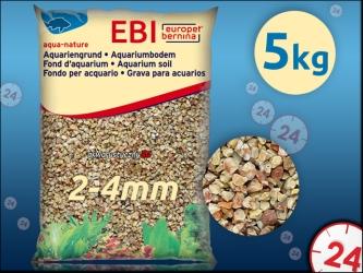 EBI Żwir Monaco 2-4mm 5kg [257-110584] | Naturalne podłoże do akwarium, nie zmienia parametrów wody.