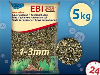 EBI Żwir ciemny 1-3mm (257-110713) - Naturalne podłoże do akwarium, nie zmienia parametrów wody.