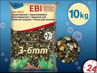 Aqua Della Żwir ciemny 3-6mm 10kg [257-110751] | Naturalne podłoże do akwarium, nie zmienia parametrów wody.