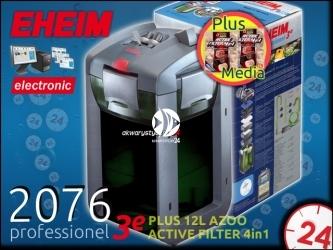EHEIM PROFESSIONEL 3e 2076 (2076010) + 6L AZOO ACTIVE FILTER 4in1 | Elektroniczny filtr zewnętrzny do akwarium 240-450l