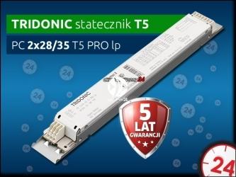 TRIDONIC Statecznik Elektroniczny T5 2x14/21/28/35 PC PRO lp | Obsługuje dwie świetlówki 14W, 21W, 28W, 35W