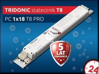 TRIDONIC Statecznik Elektroniczny T8 1x18W PC PRO