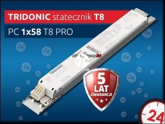 TRIDONIC Statecznik Elektroniczny T8 1x58W PC PRO lp