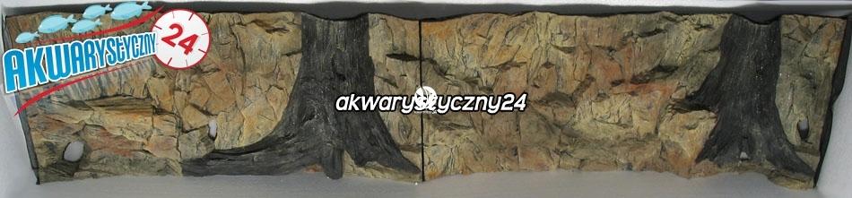 TŁO STRUKTURALNE 200x50 cm - Motyw mieszany, skała i korzeń.