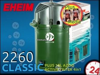 EHEIM CLASSIC 2260 + 18L AZOO ACTIVE FILTER 4in1 - Filtr zewnętrzny z wkładami do akwarium 300-1500l