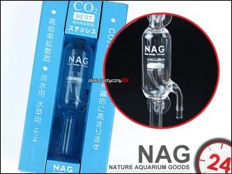 NAG Szklany dyfuzor przepływowy ze spiekiem ceramicznym 12/16mm